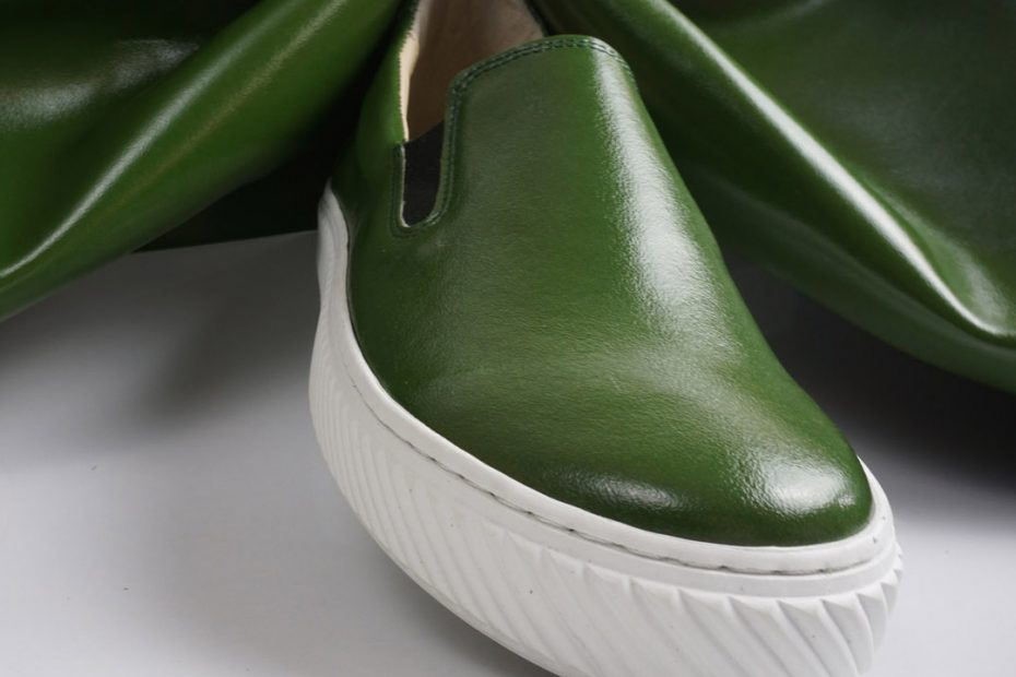 Cactus leather shoes green colour
