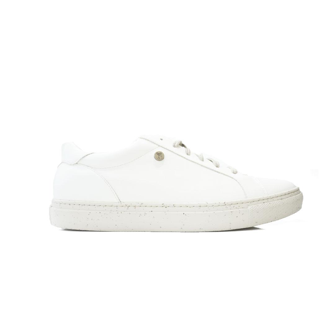 Veracruz white cactus leather shoes